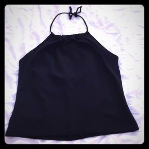 Vintage Bebe Black Halter Top in Size Large